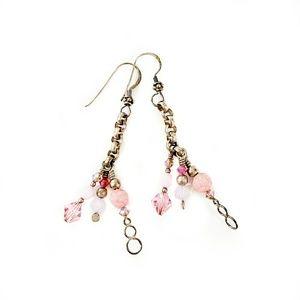 Flirty & Fun Sterling Silver Long Beaded Earrings